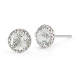 white topaz stud earrings, $450
