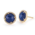 lapis lazuli stud earrings, $450