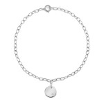 petite disc bracelet in white gold
