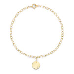 petite disc bracelet in yellow gold