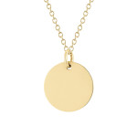 dainty disc in yellow gold, $300