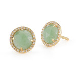 green agate stud earrings, $450