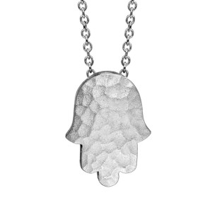 hammered hamsa necklace in sterling silver, $85